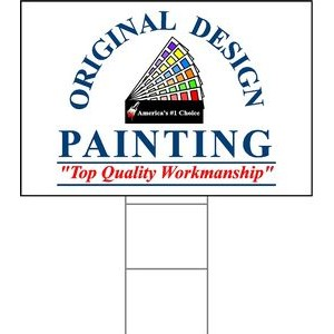 "24""x36"" 4mm Corrugated Plastic Outdoor Lawn Sign (Full Color)"