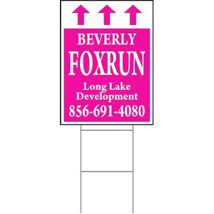 "24""x18"" 4mm Corrugated Plastic Outdoor Lawn Sign (1 Color)"