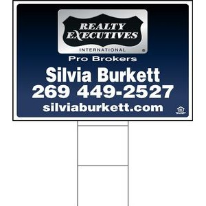 "24""x36"" 4mm Corrugated Plastic Outdoor Lawn Sign (1 Color)"