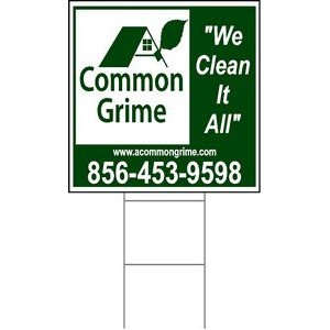 "24""x24"" 4mm Corrugated Plastic Outdoor Lawn Sign (1 Color)"