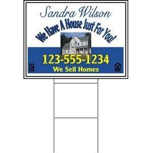 "18""x24"" 4mm Corrugated Plastic Outdoor Lawn Sign (Full Color)"