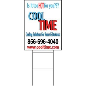 "24""x18"" 4mm Corrugated Plastic Outdoor Lawn Sign (Full Color)"