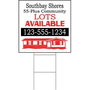 "24""x24"" 4mm Corrugated Plastic Outdoor Lawn Sign (Full Color)"
