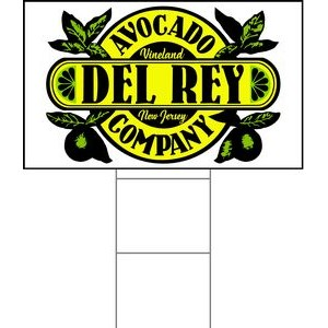 "18""x30"" 4mm Corrugated Plastic Outdoor Lawn Sign (Full Color)"