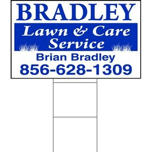 "18""x30"" 4mm Corrugated Plastic Outdoor Lawn Sign (1 Color)"