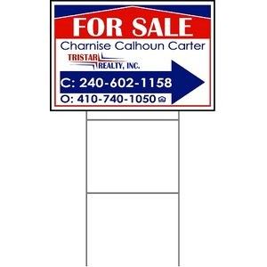 "12""x18"" 4mm Corrugated Plastic Outdoor Lawn Sign (Full Color)"