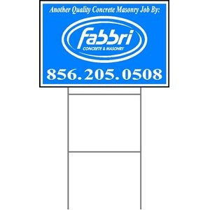 "12""x18"" 4mm Corrugated Plastic Outdoor Lawn Sign (1 Color)"
